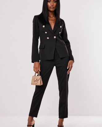 boutiques in lagos - black co ord military blazer 330x413 - Home