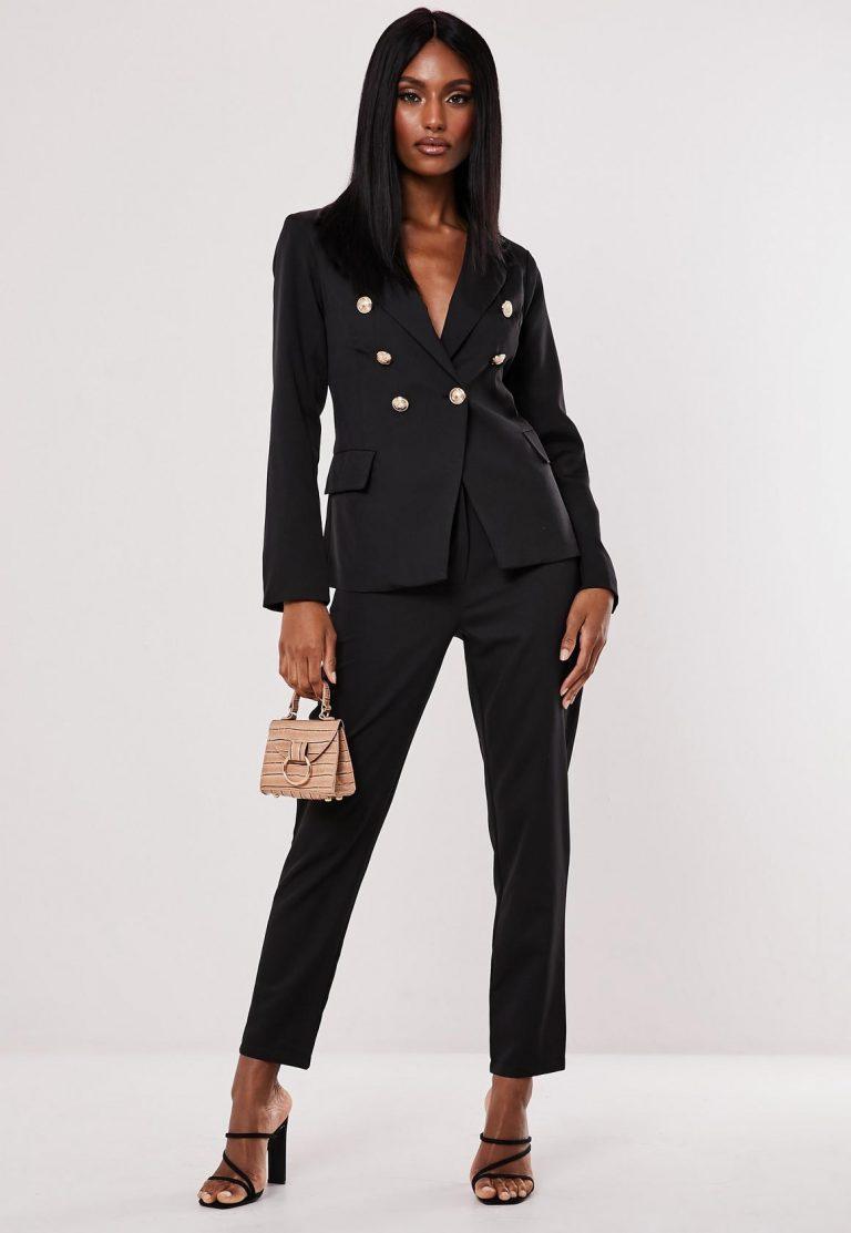 missguided black co ord military blazer - black co ord military blazer 768x1113 - Missguided black co ord military blazer