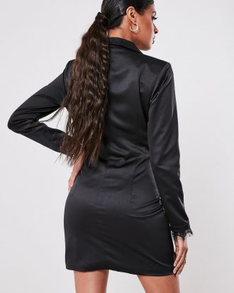 boutiques in lagos - black lace front blazer dress 3 330x413 - Home