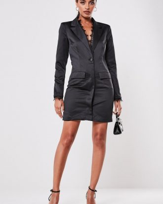 boutiques in lagos - black lace front blazer dress 330x413 - Home