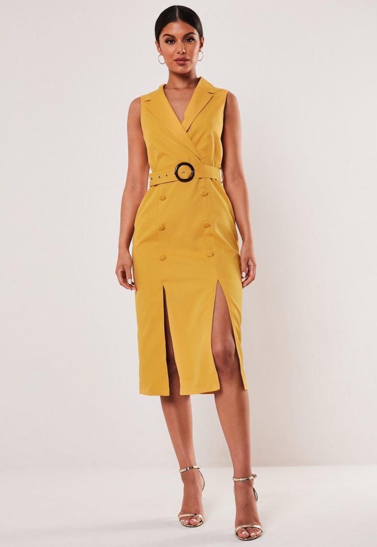 missguided mustard sleeveless belted blazer dress - mustard sleeveless belted blazer dress 768x1113 - Missguided mustard sleeveless belted blazer dress